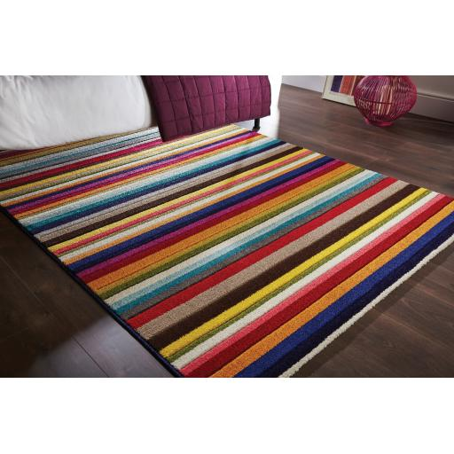 Spectrum Tango Vibrant Colour Hand Carved Rugs Runners