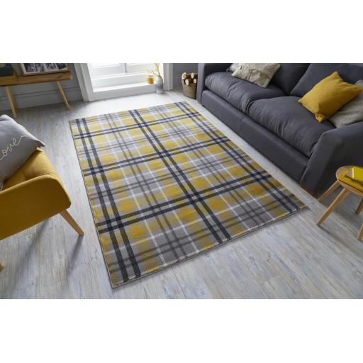 Cocktail Highland Tartan Desing Rugs Runners