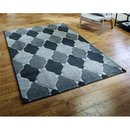 Modern Visiona Convex Geometric Natural & Grey Hand Tufted Rugs