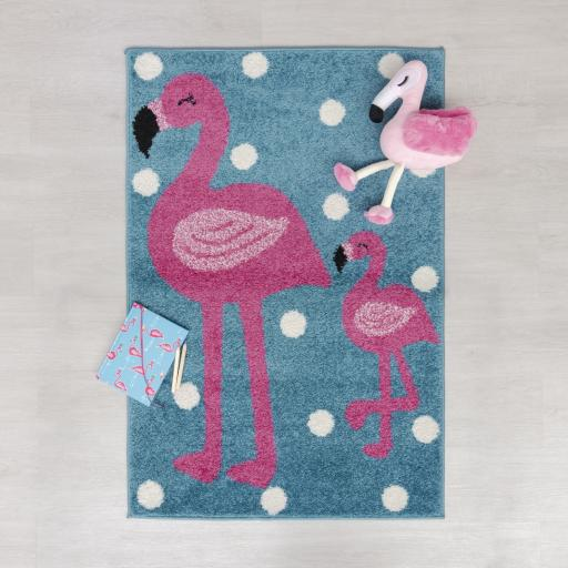Kids Play Days Flamingo Rug