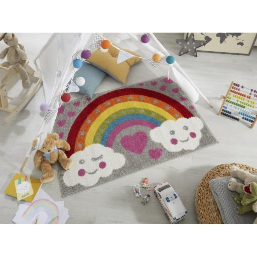 Kids Play Days Rainbow For Heroes Rug