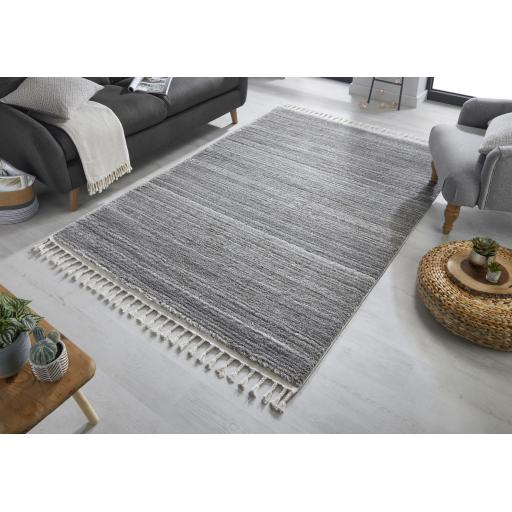 Aria Holland Modern Hand Tufted Grey/Cream Rugs