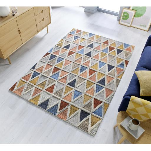 Moda Moretz Multi 100% Wool Rugs Runners