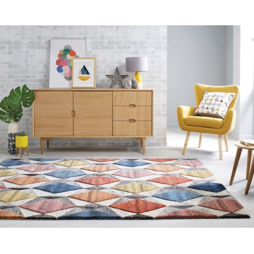 Moda Yara Multi 100% Wool Rugs Runners