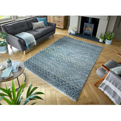 Santiago Miguel Abstract Fashion Hand-Knotted Style Soft Grey Rug