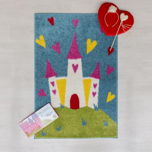 Kids Play Days Princess Castle Rug