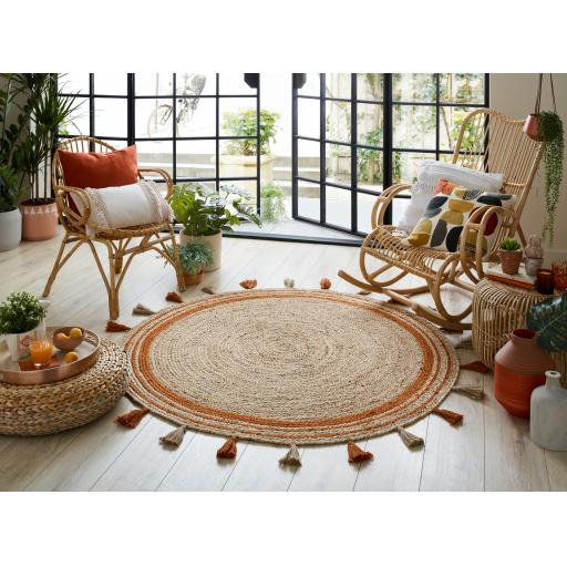 Lunara Jute Circle Istanbul Outdoor Indoor Rugs