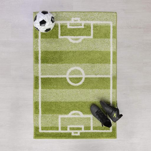 Kids Play Days Football Pitch Rugs