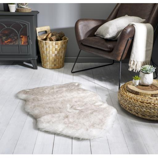 Freja Faux Fur Copenhagen Sheepskin Shaggy Animal Skin Shaped Rugs