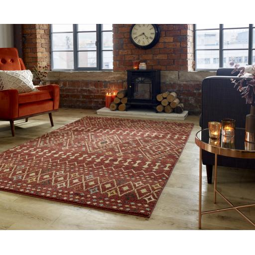 Nova Odine Rustic Style Traditional Soft Rugs