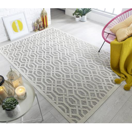 Piatto Geometric Patterned Flatweave Outdoor And Indoor Rugs Runners Rounds