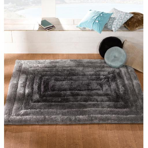 Verge Ridge Soft Shaggy 3D Design Hand Carved Rug