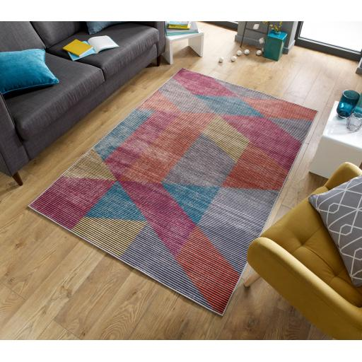 Electric Fuse Abstract Design Multi Rug