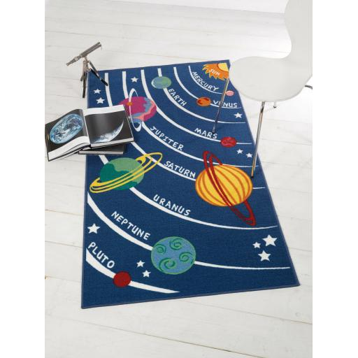Matrix Kiddy Planets Mat Washable Children Rug