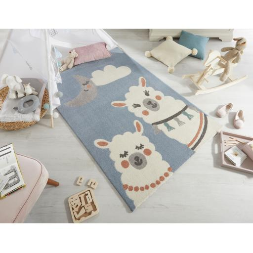 Cadiz Kids Llama Multi Children Rug