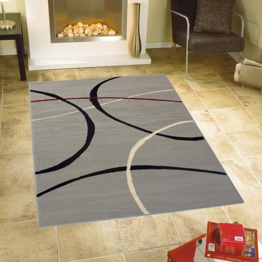 Element Retro 9255 Grey Rug in 120x160 cm (4'x5'3'')
