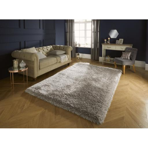 Pearl High Pile Thick Silky Soft Shaggy Rugs