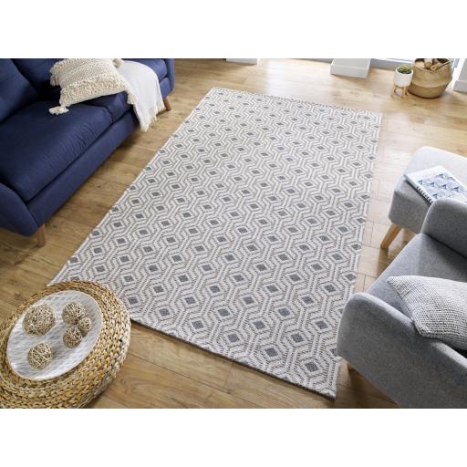 Cotone Bombax Geometric Flatweave Cotton Rug