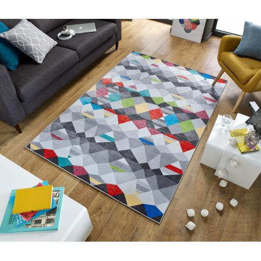 Electric Impulse Abstract Design Multi Rug