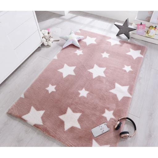 Pick N Mix Twinkle Stars Soft Kids Baby Rugs 90 x 150 cm (2'9''x5'9'')