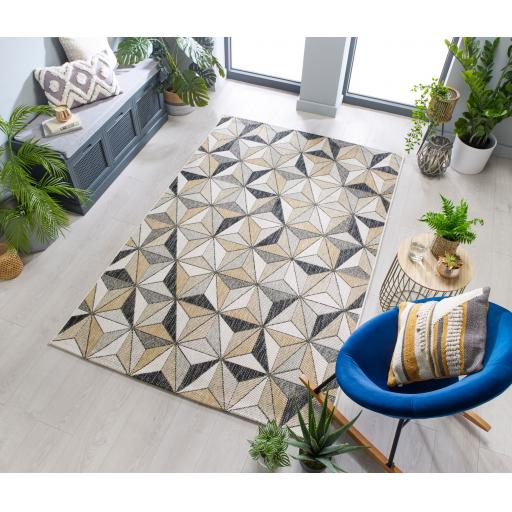 Dimensions Outdoor Indoor Charm Geometric Design Flatweave Rug Runner