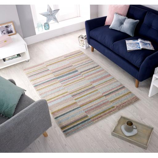 Urban Lines Striped Design Rugs