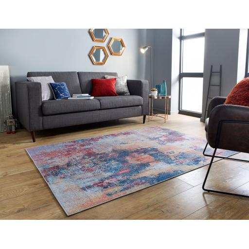 Electric Surge Abstract Design Multi Rug