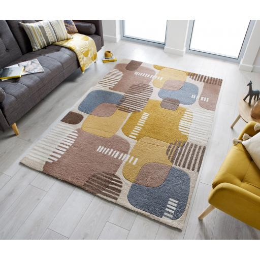 Zest Pop Hand Carved Geometric Rugs