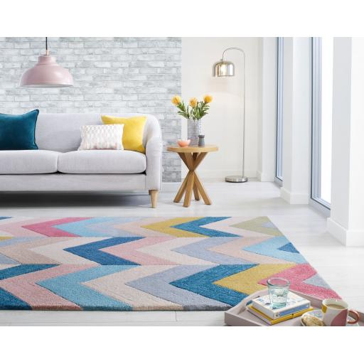 Zest Chroma Geometric Rug in Multicolours