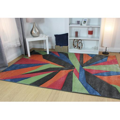 Hand Carved Shatter Modern Rugs