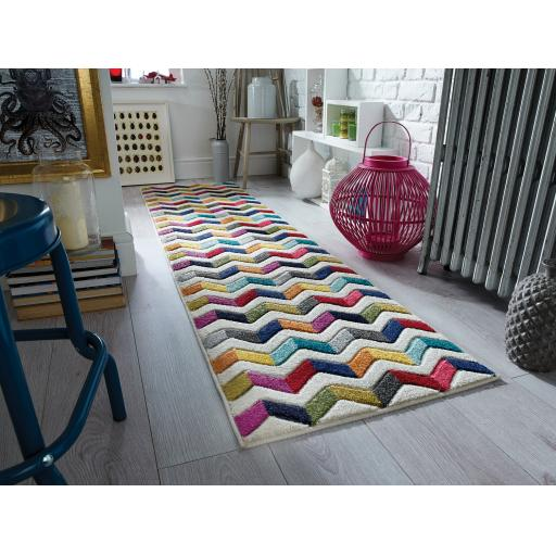 Spectrum Bolero Multi Colour Hallway Runner Rug
