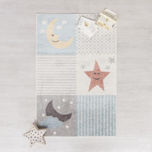 Bambino Dreams Baby Kids Multi Rug 80 x 120 cm (2'7''x5'6'')