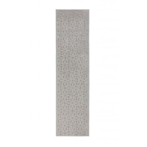 Piatto Argento Silver Outdoor Indoor Hallway Runner Rug