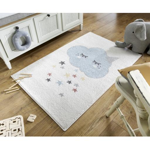 Bambino Unicloud Baby Kids Cream/Multi Rug 80 x 120 cm (2'7''x5'6'')