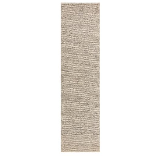 Minerals Warm Touch Soft Wool Hallway Runner in Grey 60 x 230 cm (2'x7'7'')