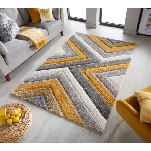 Dune Crater Geometric Shaggy Rugs