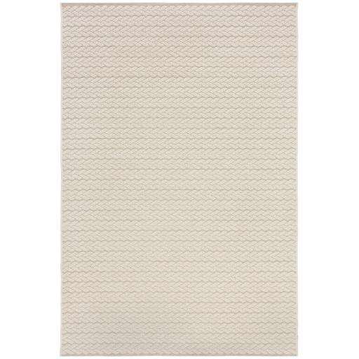 Basento Cable Contemporary Flatweave Outdoor Indoor Rug in Natural