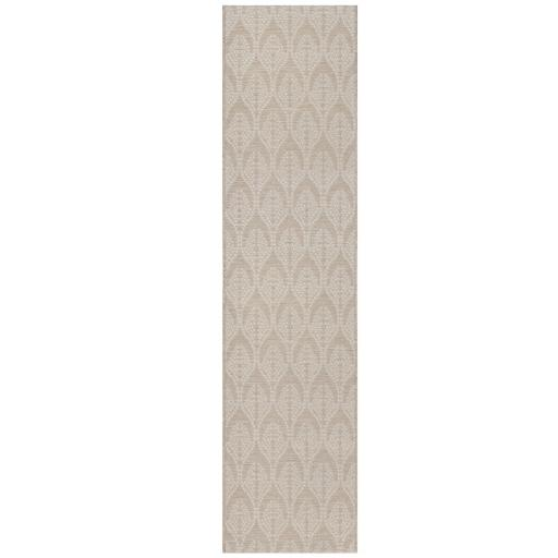 Basento Seed Contemporary Flatweave Outdoor Indoor Hallway Runner Rug in Natural 60 x 230 cm (2'x7'7'')