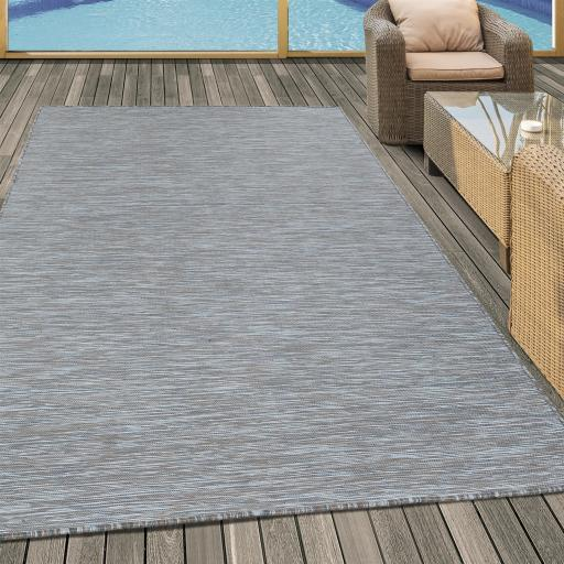 Mambo Modern Flatweave Outdoor and Indoor Rug in Anthracite, Black and Taupe