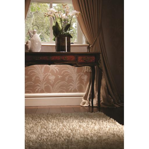 Imperial Luxury Shaggy Hand Woven Wool Rug in Ivory