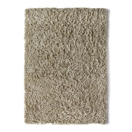 Imperial Luxury Shaggy Hand Woven Wool Rug in Oyster