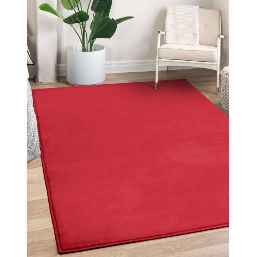 Modern Moda Plain Rug in Trendy Colours Hallway Runner