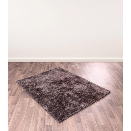 Whisper Plain Sparkle Shaggy Rug in Blush Pink, Grey, Silver, Duck Egg, Charcoal and Gold